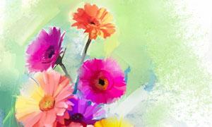 鲜艳花朵水彩绘画创意设计高清美高梅
