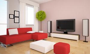 沙发茶几与家庭影院系统等高清图片