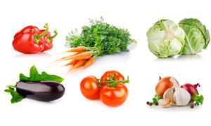 辣椒茄子与番茄等蔬菜摄影高清图片