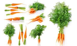 多种形态的胡萝卜特写摄影高清图片