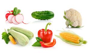 辣椒花菜与黄瓜等蔬菜摄影高清图片