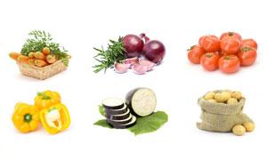 洋葱番茄与土豆等蔬菜摄影高清图片