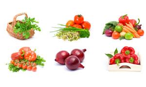 番茄香菜与洋葱等蔬菜摄影高清图片