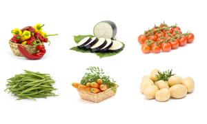 四季豆胡萝卜与土豆等蔬菜高清图片