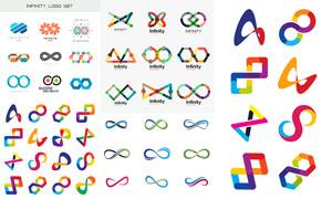 色彩缤纷几何图形元素标志矢量素材