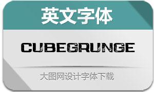 CubeGrunge(英文字体)