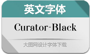 Curator-Black(英文字体)