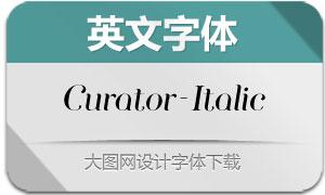 Curator-Italic(英文字体)
