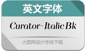 Curator-ItalicBlack(英文字体)