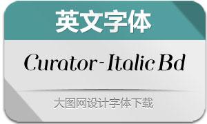Curator-ItalicBold(英文字体)