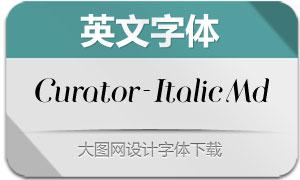 Curator-ItalicMedium(英文字体)