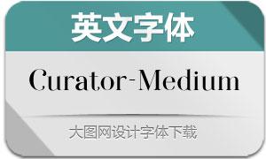 Curator-Medium(英文字体)