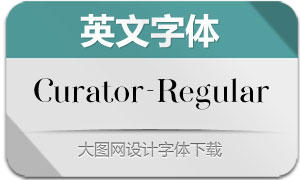Curator-Regular(英文字体)