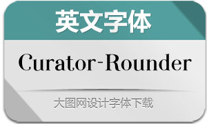Curator-Rounded(英文字体)