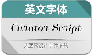 Curator-Script(英文字体)