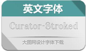 Curator-Stroked(英文字体)