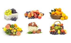 葡萄桔子与荔枝等水果摄影高清图片