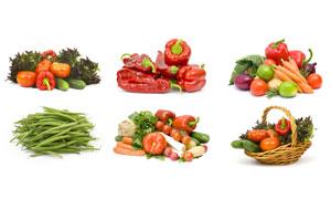 黄瓜番茄与洋葱等蔬果摄影高清图片