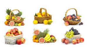 李子香蕉与柚子等水果摄影高清图片