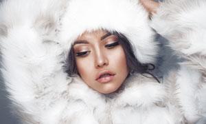 冬天女装模特人物写真摄影高清图片