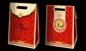 中秋月饼礼盒包装模板PSD素材