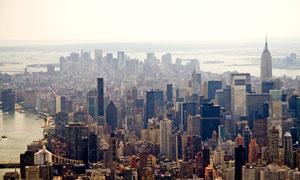 美国的纽约城市建筑群摄影高清图片