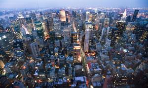 鸟瞰视角纽约城市风光摄影高清图片