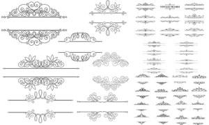 花纹图案装饰的分隔线设计矢量素材