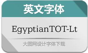 EgyptianTOT-Lig(英文字体)
