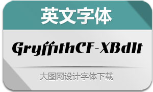 GryffithCF-ExtraBoldItalic(英文字体)