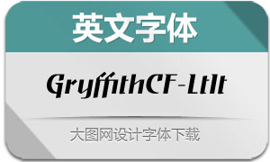 GryffithCF-LightItalic(英文字体)
