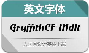 GryffithCF-MediumItalic(英文字体)