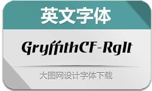 GryffithCF-RegularItalic(英文字体)