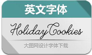 HolidayCookiesBold(英文字体)