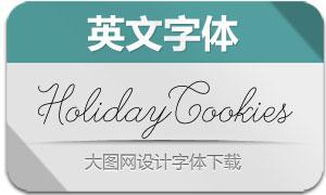 HolidayCookies-Regular(英文字体)