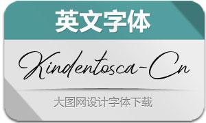 Kindentosca-Condensed(英文字体)