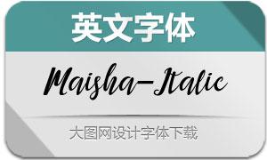 MaishaScript-Italic(英文字体)