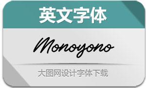 Monoyono-Regular(英文字体)