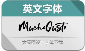MuchoGusto系列三款英文字体