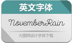 NovemberRain-Light(英文字体)