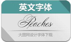Peaches(英文字体)