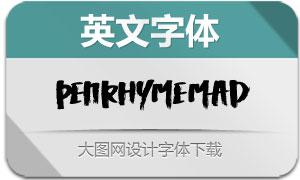 PenrhymeMad(英文字体)