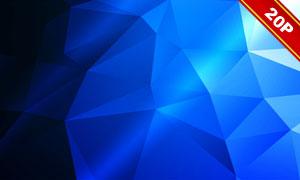 光效元素与低多边形等图形高清图片
