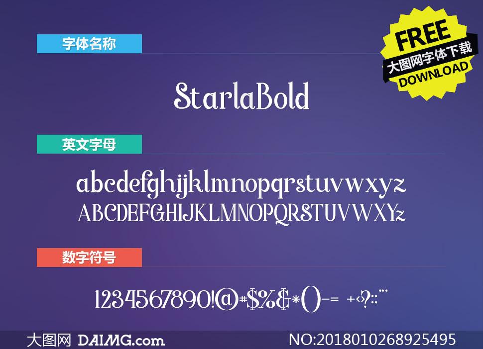 StarlaBold(英文字体)