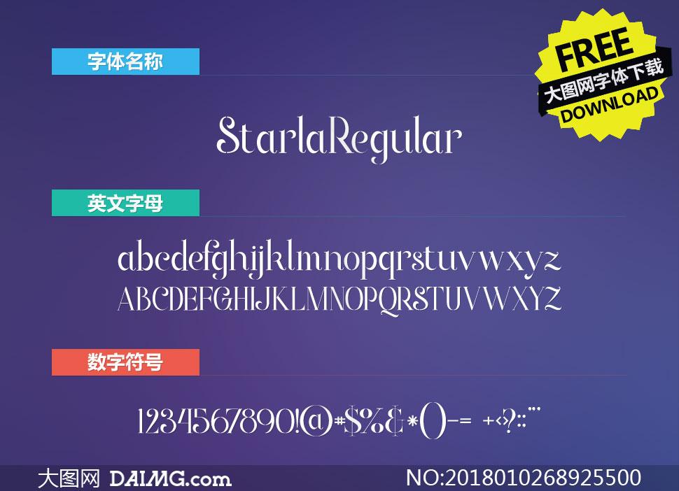 StarlaRegular(英文字体)