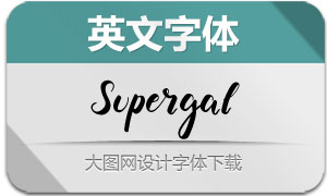 Supergal(英文字体)