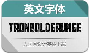 TronBoldGrunge(英文字体)