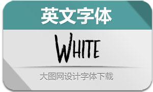 White(英文字体)