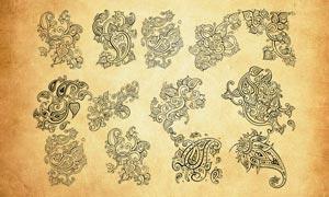 欧式复古花纹装饰PS笔刷