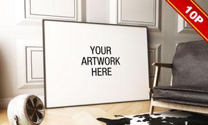 室内摆放的装饰画场景应用贴图模板